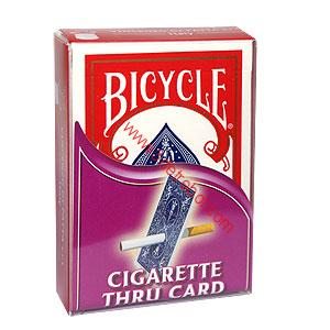 CIGARETTE through card - Bicycle