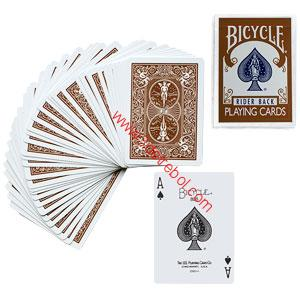 BICYCLE POKER DECK BROWN BACK